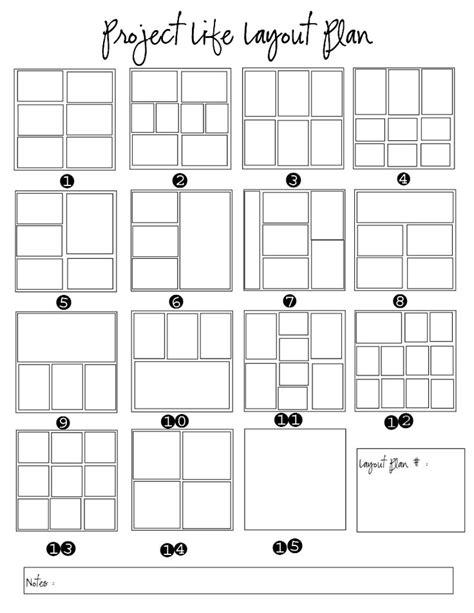 scrapbook layout pdf project life layout plan pdf google drive project life