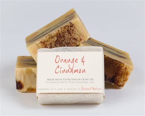 orange cinnamon handmade soap second nature soaps