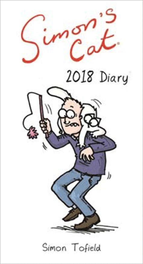 libro simons cat slim calendar simon s cat slim diary 2018 by simon tofield waterstones