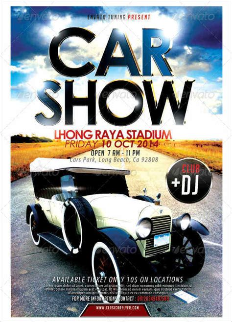 car show flyer template car show flyer templates free images psd documents