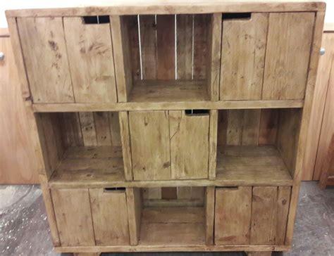 Handmade Cupboard From Reclaimed Scaffold Boards