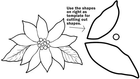 pattern for poinsettia leaf poinsettia leaf pattern template search results