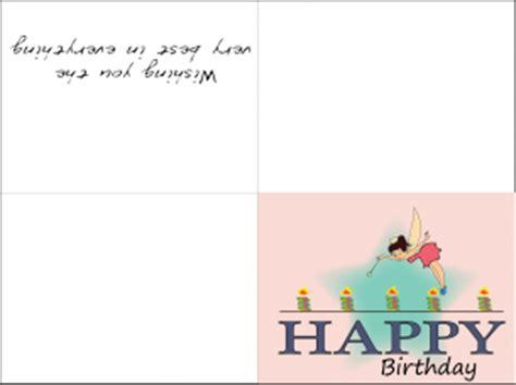 printable birthday cards for a sister fairy birthday cards