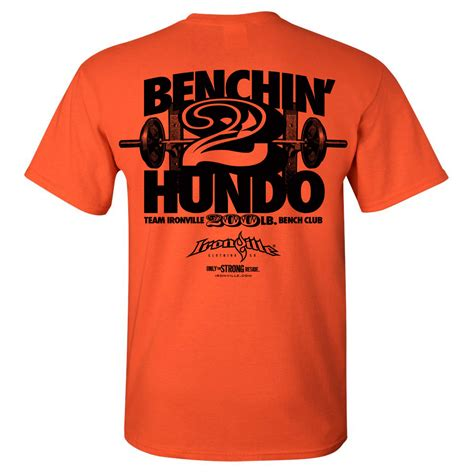 bench press shirt for sale 200 pound bench press club t shirt ironville clothing