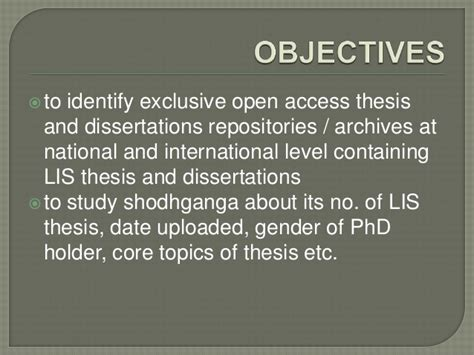 national digital library of theses and dissertations lis research and its availability in archives repositories