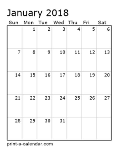 printable monthly calendar 2018 portrait excel calendar 2018