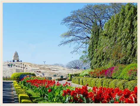 Lalbagh Botanical Gardens Colourful Shrubs And Kempegowda Tower At Lalbagh Botanical Gardens Ghumakkar Inspiring