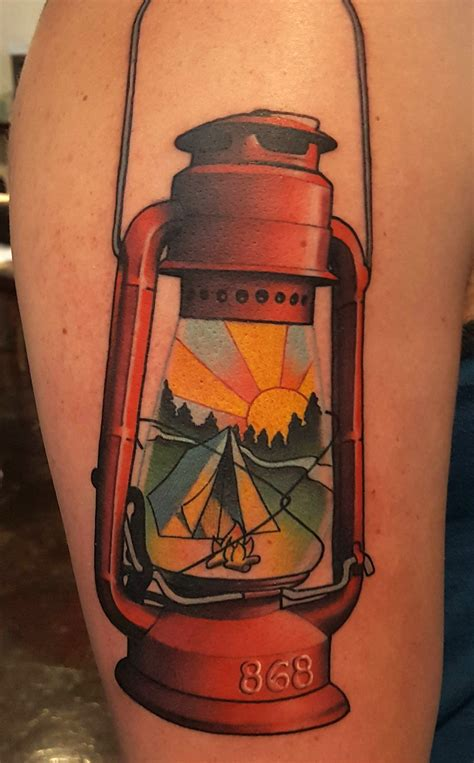 black lantern tattoo cing lantern by brad dozier at black 13 in
