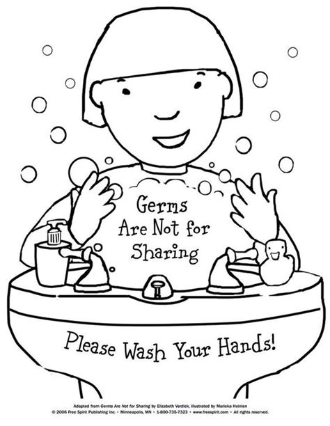 preschool germ coloring pages free printable coloring page to teach kids about hygiene