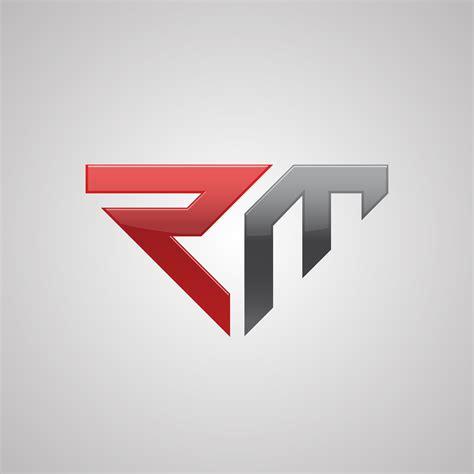 creative letter rm logo concept design