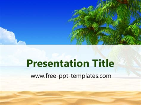 Tropical Beach Ppt Template Vacation Powerpoint Presentation Templates