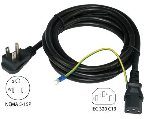 power cord wiring conntek 29336 dp nema 5 15p to iec c13 power cord