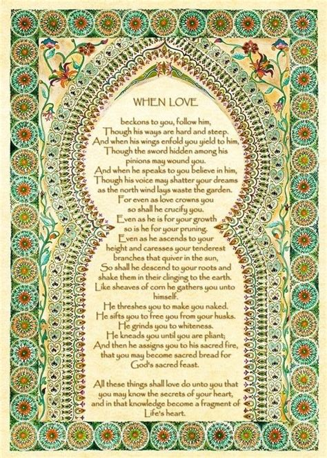 Wedding Blessing Kahlil Gibran on blessing by kahlil gibran special s day