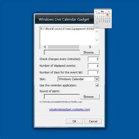 Windows Live Calendar Windows Live Calendar Windows 10 Gadget Win10gadgets
