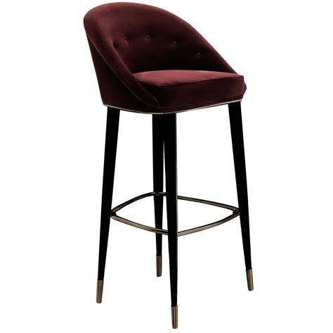 Stool Legs For Sale by Bar Stool Myla With Cotton Velvet Seat And Black Lacquered