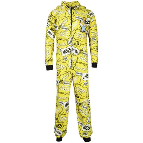 Navy Tsum Tsum Family Mens Pajamas homer s printed onesie yellow clothing
