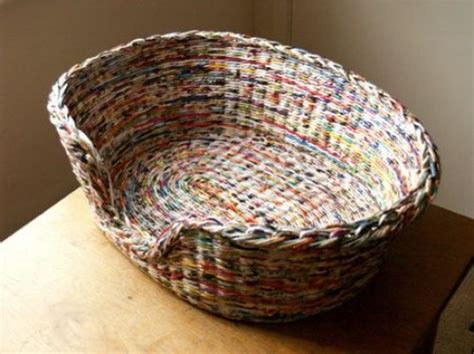 Paper Baskets - some easy and diy newspaper wall hangings and d 233 cor