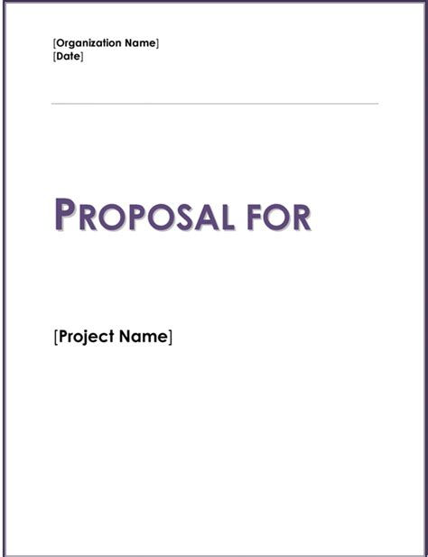 fundraising proposal template for charity word excel