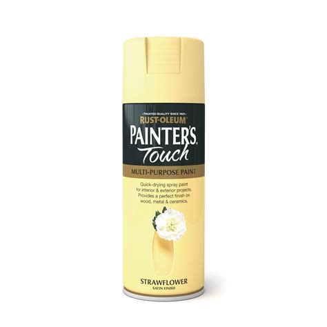 spray painters touch rust oleum painter s touch satin spray paint strawflower