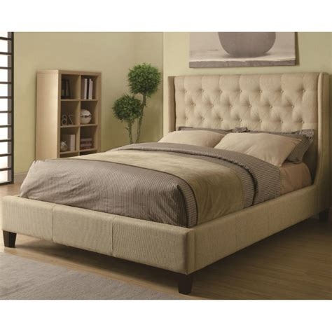 Upholstery Fabric Beds by Upholstered Beds Upholstered King Bed With Tufted Headboard