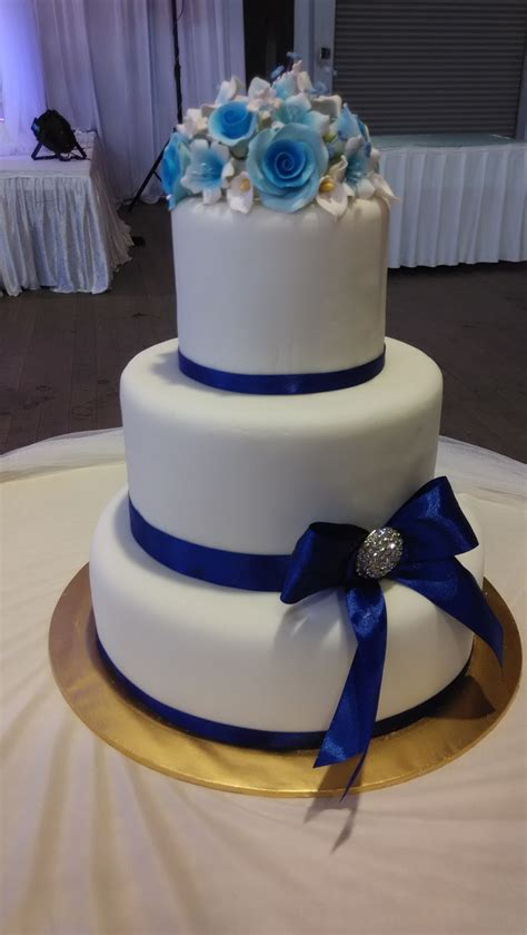 Wedding Cake Blue by Jujucupcakes Royal Blue And Purple Themed Wedding Cakes
