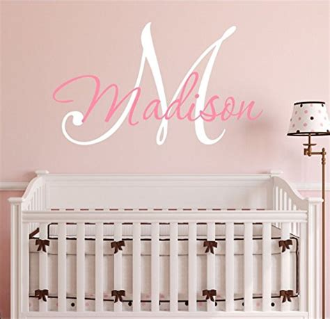 find all the prices of nursery custom name and initial wall decal sticker 28 w by 21 h