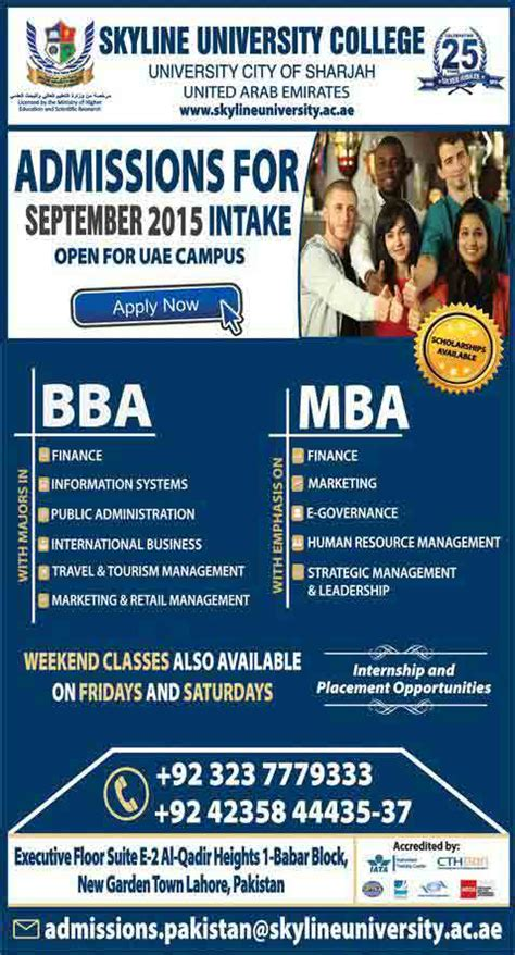 Mba In Sports Management In Uae by Skyline College Admissions 2015 Open In Uae