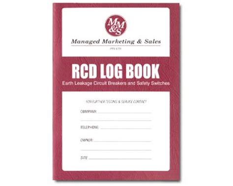 log books test and tag supplies test and measurement