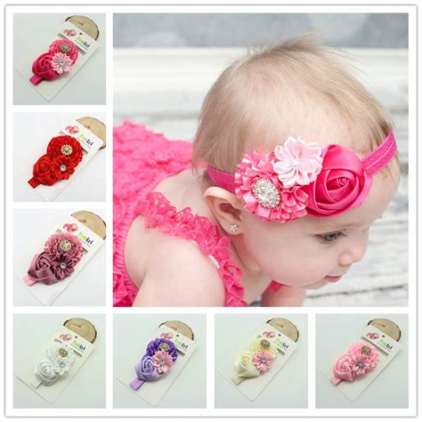 Ribbon Baby Headband 1piece baby flower elastic headband hair ribbon baby band children hair