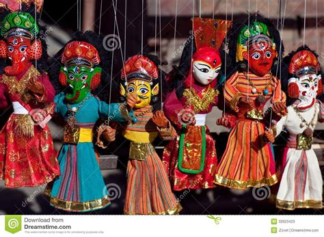 Asian Home Decor nepalese puppet show stock image image of close asia