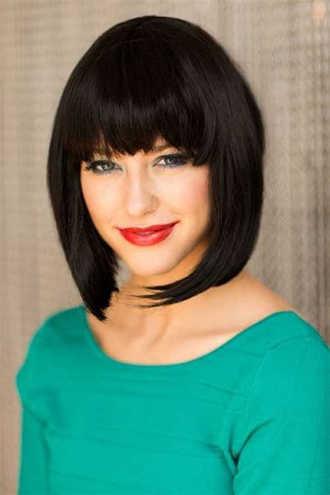 reverse bob haircut with bangs 30 best inverted bob with bangs bob hairstyles 2017