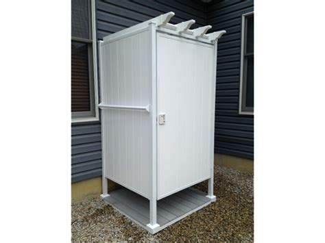 outdoor shower ideas single shower stall outdoorshowers net - Outdoor Shower Units