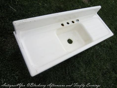 sale cast iron farmhouse kitchen sink vintage by