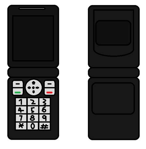 Papercraft Phone - cellphone flip black nintendofan12 s papercraft things