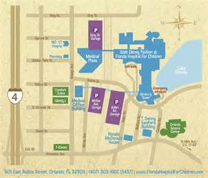 location and directions florida hospital for children
