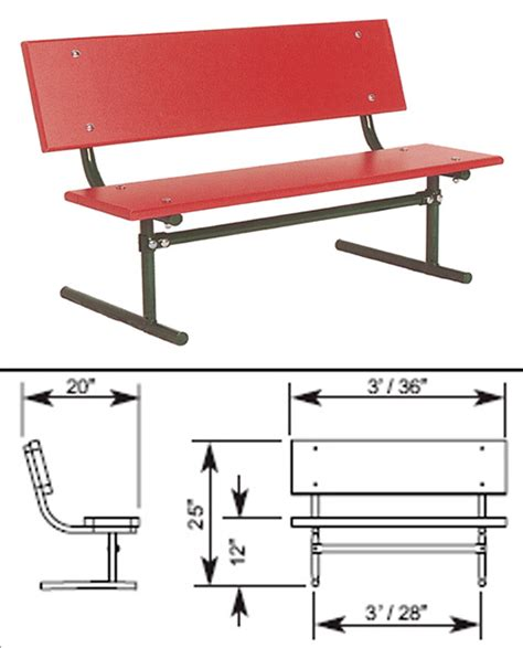 school bench size early years site amenities playground equipment for commercial school playgrounds
