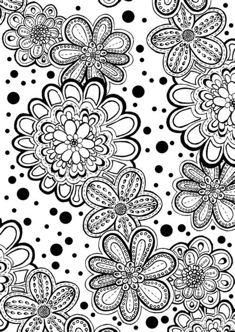 printable zentangle flowers flower abstract doodle zentangle coloring pages colouring