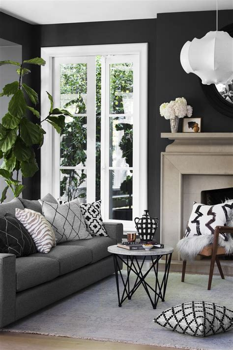 Black Sofa Grey Walls by Best 25 Gray Decor Ideas On Gray