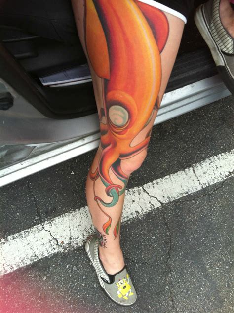 santa cruz tattoo squid by doug staircase in santa ca