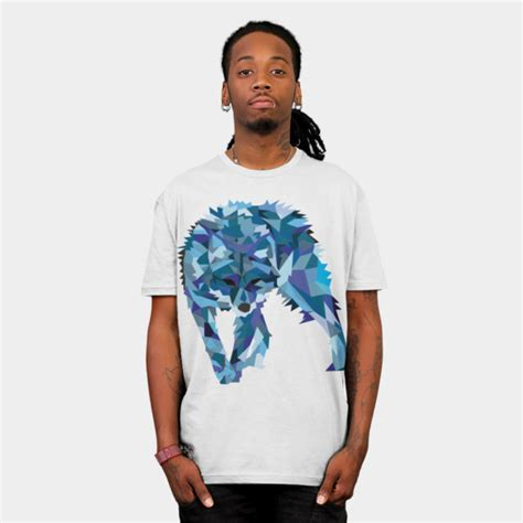 Fiore Shirt Wolfice wolf t shirt design by haldeda fancy tshirts
