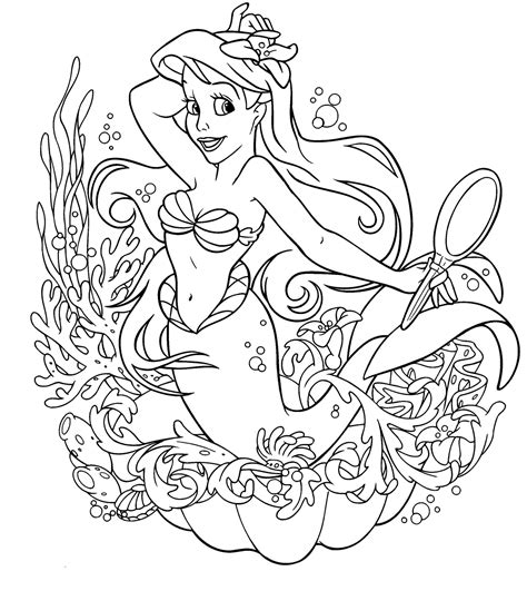 Interactive Magazine Alone Princess Coloring Pages Princess Coloring Pages For Free