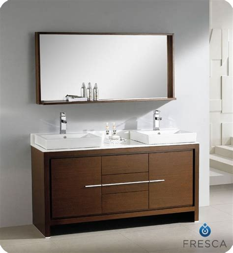 dark brown bathroom vanity fresca allier 60 quot bathroom vanity wenge dark brown finish