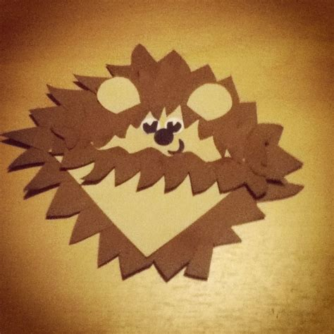 hedgehog bookmarks hedgehog bookmark i made tonight crafts diy