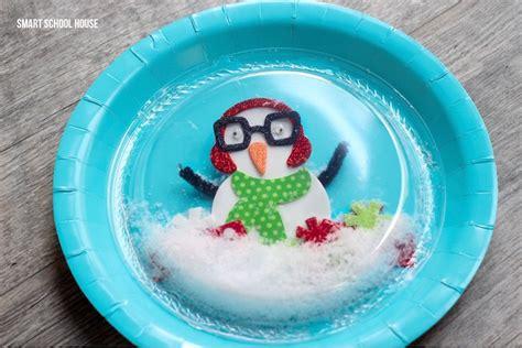 Snow Globe Paper Craft - plastic plate snow globe page 2 of 2 smart school house