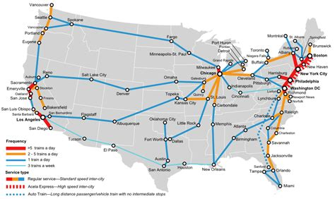 amtrak rail map usa travel in the u s a