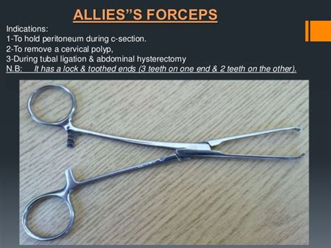 forceps used in c section instruments of gyne and obs pptx