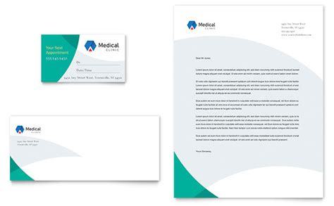 doctors office business card letterhead template design