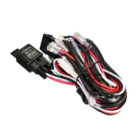 led light bar wiring harness led road led light