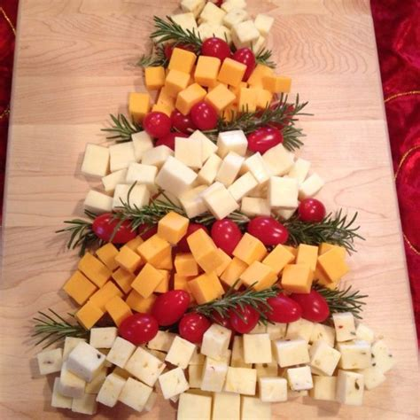 my christmas tree cheese platter was a hit christmas