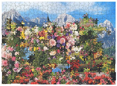 painting puzzle reconfigured puzzle oliveloaf design